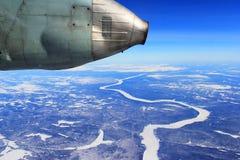 Au-dessus de la terre sibérienne Images libres de droits