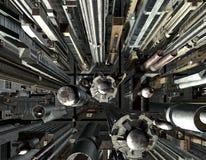 Au-dessus de la ville - 01 - l'indus Images stock