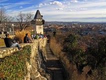 Au-dessus de la ville de Graz Image libre de droits