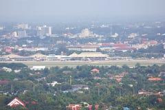 Au-dessus de la vue de Chiang Mai International Airport Image stock