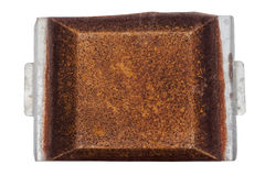 Au-dessus de la vue plateau négligé de Rusty Grungy Decayed Rusted Metal Image stock