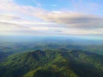 au-dessus de la vue sur la montagne Images libres de droits
