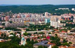 au-dessus de lviv Ukraine photographie stock libre de droits