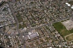 Au-dessus de Salt Lake City photos stock