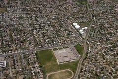 Au-dessus de Salt Lake City Images stock