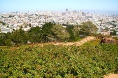 Au-dessus de San Francisco Photo stock