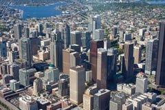 Au-dessus de Seattle du centre Images libres de droits
