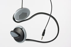 Au-dessus des écouteurs de sport de type d'oreille Photos stock