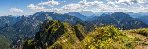 Au-dessus des Alpes image stock