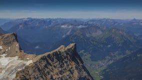 Au-dessus des Alpes Images libres de droits