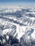 Au-dessus des montagnes. photos libres de droits