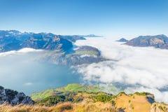 Au-dessus des nuages Photographie stock