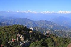 Au-dessus des nuages dans Nagarkot Image libre de droits