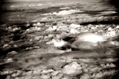 Au-dessus des nuages de tempête Images libres de droits