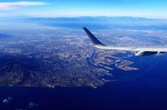 Au-dessus des nuages et de la côte ouest Photos libres de droits