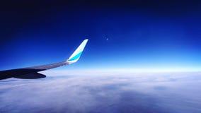 Au-dessus des nuages, quand la nuit commence Images libres de droits