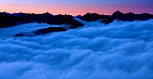 Au-dessus des nuages, Washington State Photos libres de droits