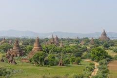 Au-dessus des temples de Bagan images stock