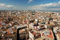 Au-dessus des toits de Valence Photo stock