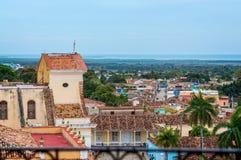 Au-dessus des toits du Trinidad Images libres de droits