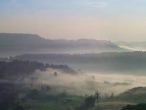 Au-dessus du brouillard Photographie stock