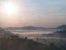 Au-dessus du brouillard Photos libres de droits