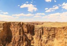 Au-dessus du canyon Images stock