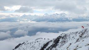 Au-dessus du ciel à Innsbruck Photos libres de droits