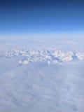 Au-dessus du Groenland Photos stock