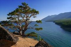 Au-dessus du lac Baïkal Image stock