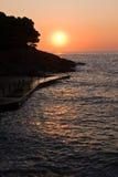 au-dessus du lever de soleil de mer Images libres de droits