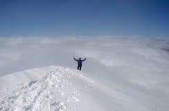 Au dessus du monde. Photographie stock