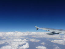 Au-dessus du nuage Images libres de droits