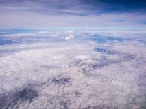 Au-dessus du nuage sur des avions Image libre de droits