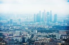 Au-dessus du paysage urbain de Moscou de vue Images stock