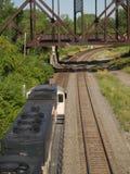 Au-dessus du train de charbon? Photographie stock libre de droits