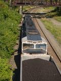 Au-dessus du train de charbon images libres de droits