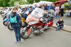 Au festival, Harley-Davidson, Images libres de droits