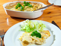 Au gratin potatoes Stock Photography