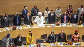 AU hymn przy ceremonią otwarcia 50th rocznica Fotografia Royalty Free