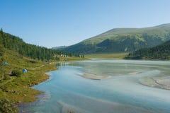 Au lac Akkem Photo libre de droits