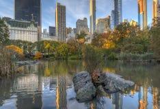 Au lac dans le Central Park photographie stock libre de droits