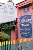 Au Lapin Agile famous cabaret at Montmartre. Paris, France, 14 Aug 2018. Oldest cabaret club in Paris, France. Au Lapin Agile, Montmartre royalty free stock photos