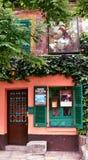 Au Lapin Agile famous cabaret at Montmartre. Paris, France, 14 Aug 2018. Oldest cabaret club in Paris, France. Au Lapin Agile, Montmartre stock photography