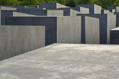 Au mémorial Berlin d'holocauste Photographie stock libre de droits