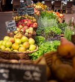 Au marché de ville Vienne - Autriche photographie stock libre de droits