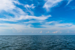 Au milieu de la mer Images libres de droits