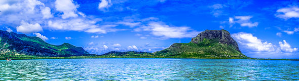 Au morne. This mountain of Mauritius have a great history linked to the abolition of slavery Stock Photography