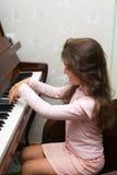 Au piano Image libre de droits