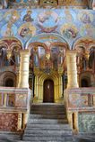 Au portail aux portes royales avec la voûte d'or - église d'OU Photos libres de droits